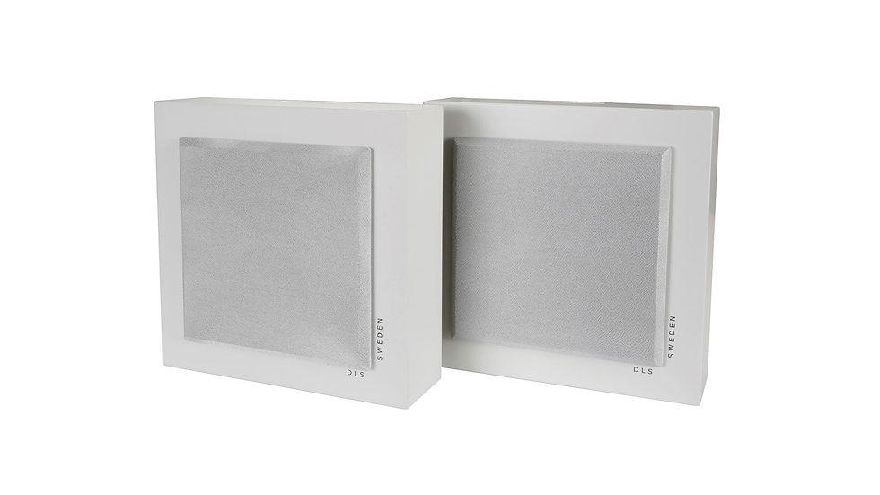 DLS SWEDEN Flatbox Mini White Coppia Diffusori Casse da parete 2 Vie 120W