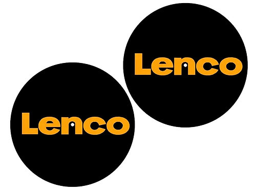 Coppia Tappetini per Giradischi DJ Slipmat 30cm Logo LENCO Feltro 3mm