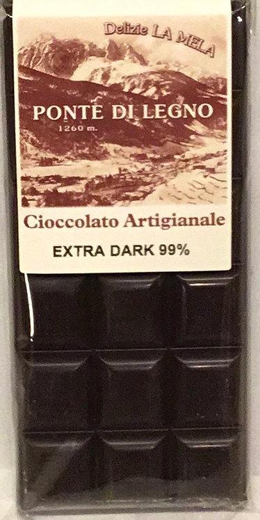 Cioccolato CLASSICO fondente 99% 100 Gr.
