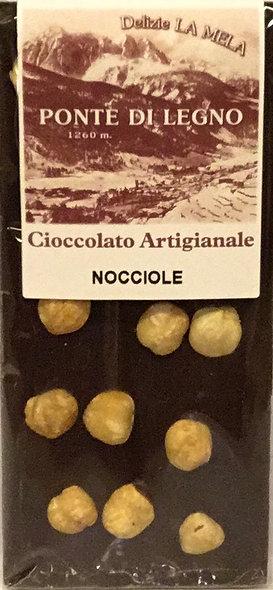 Cioccolato NOCCIOLE fondente 100 Gr.