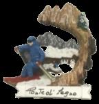 Calamita Montagna Sciatore invernale