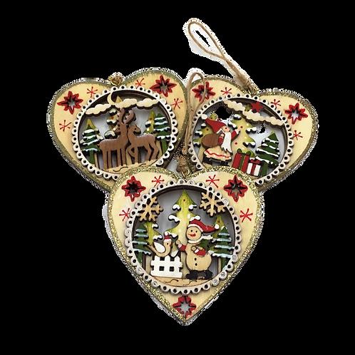 ADDOBBI NATALIZI per albero di Natale in legno artigianali