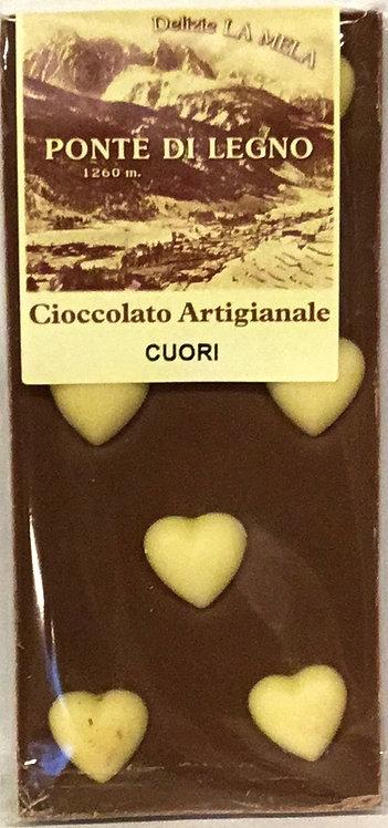 Cioccolato CUORI latte 100 Gr.