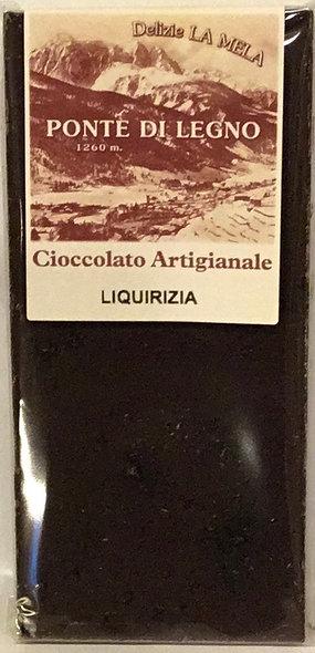 Cioccolato LIQUIRIZIA fondente 100 Gr.