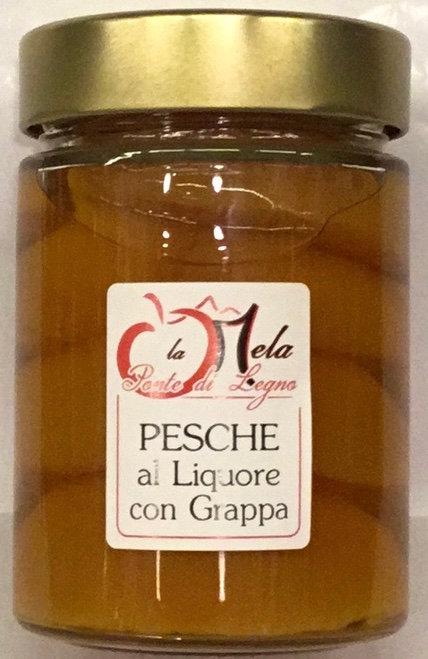 PESCHE in liquore con grappa