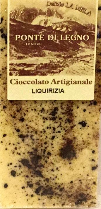 Cioccolato LIQUIRIZIA bianca 100 Gr.