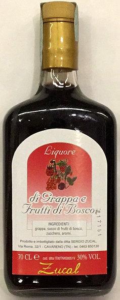 Liquore Grappa FRUTTI DI BOSCO 700 ML.