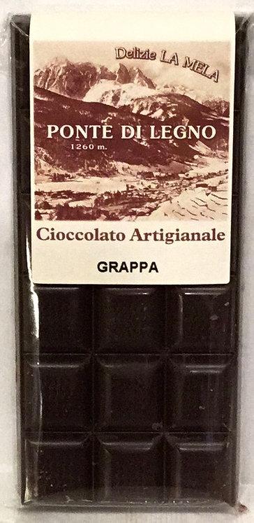 Cioccolato GRAPPA fondente 100 Gr.