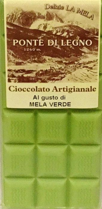 Cioccolato MELA VERDE bianco 100 Gr.