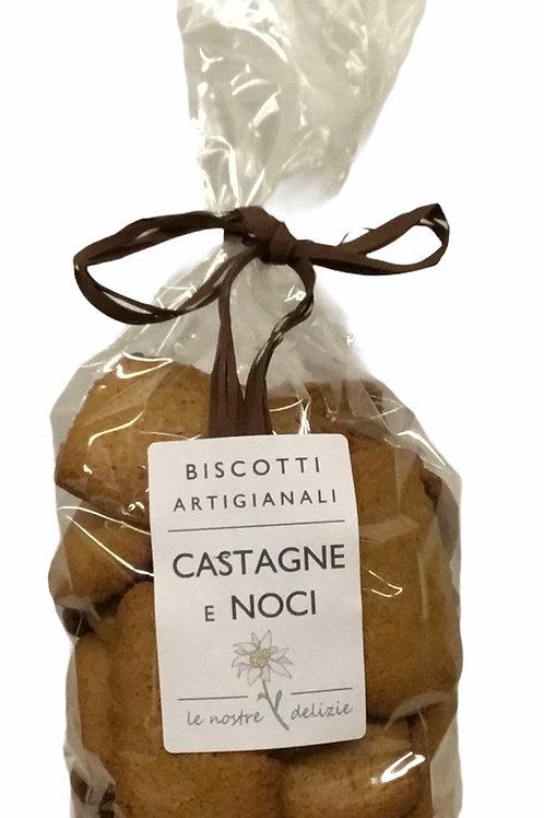 Biscotti locali CASTAGNE E NOCI 250 Gr.