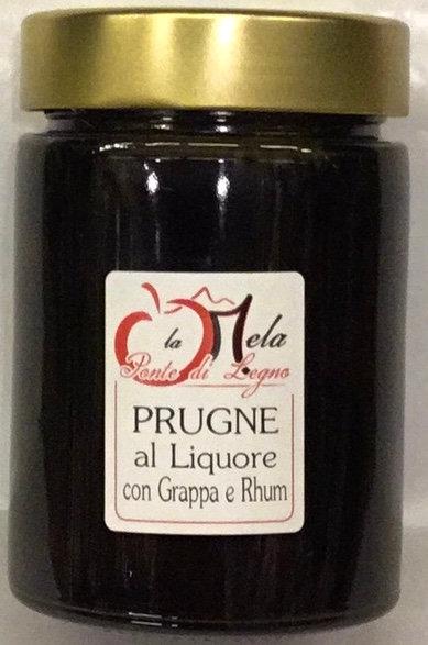 PRUGNE in liquore con grappa