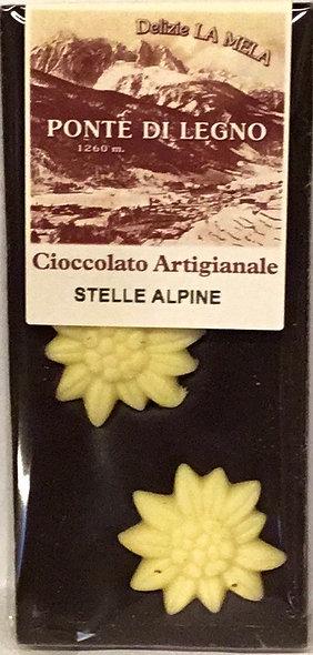 Cioccolato STELLE ALPINE fondente 100 Gr.