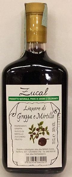 Liquore Grappa MIRTILLI 700 ML.