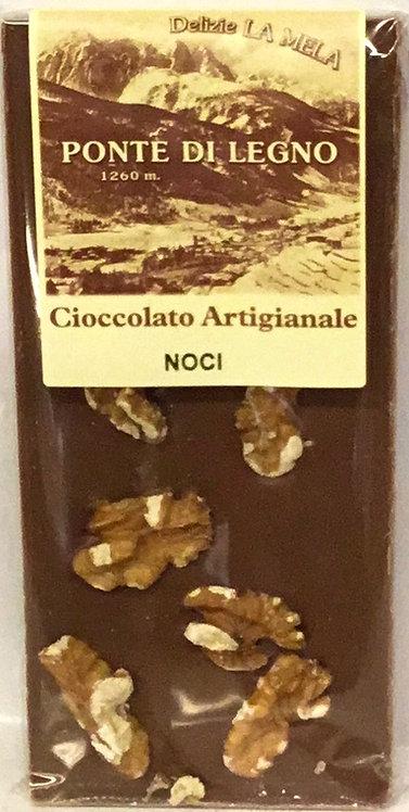 Cioccolato NOCI latte 100 Gr.