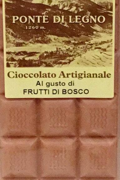 Cioccolato FRUTTI DI BOSCO bianco 100 Gr.