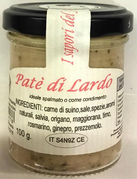 Patè di LARDO 100 Gr.