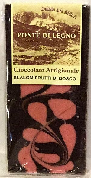 Cioccolato SLALOM FRUTTI DI BOSCO fondente 100 Gr.