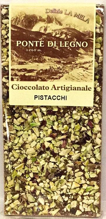 Cioccolato PISTACCHI latte 100 Gr.