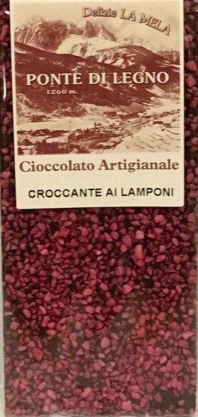 Cioccolato LAMPONI fondente 100 Gr.