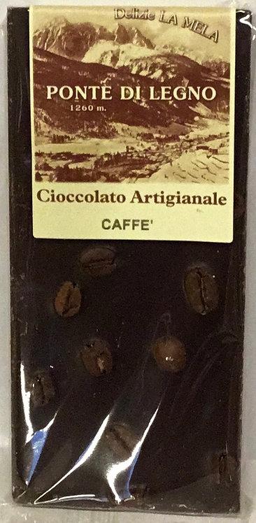 Cioccolato CAFFE' fondente 100 Gr.
