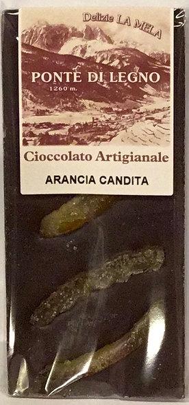 Cioccolato ARANCIA fondente 100 Gr.