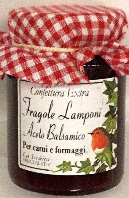 Confettura FRAGOLA LAMPONE ACETO BALSAMICO 105 GR.