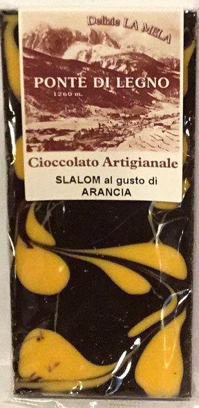 Cioccolato SLALOM ARANCIA fondente 100 Gr.