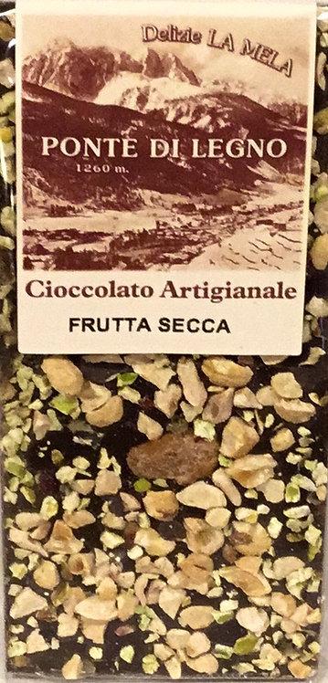 Cioccolato FRUTTA SECCA fondente 100 Gr.