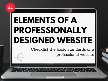 Elements of a professionally designed website