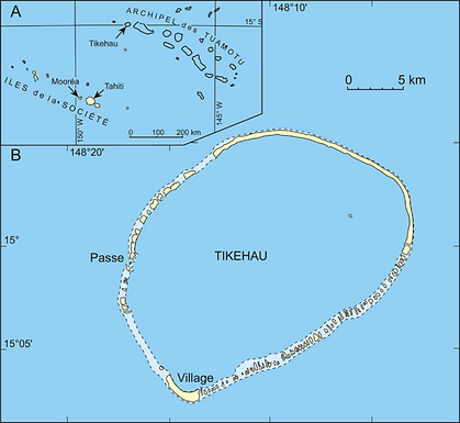 Tikehau ile sable rose pension Hakamanu