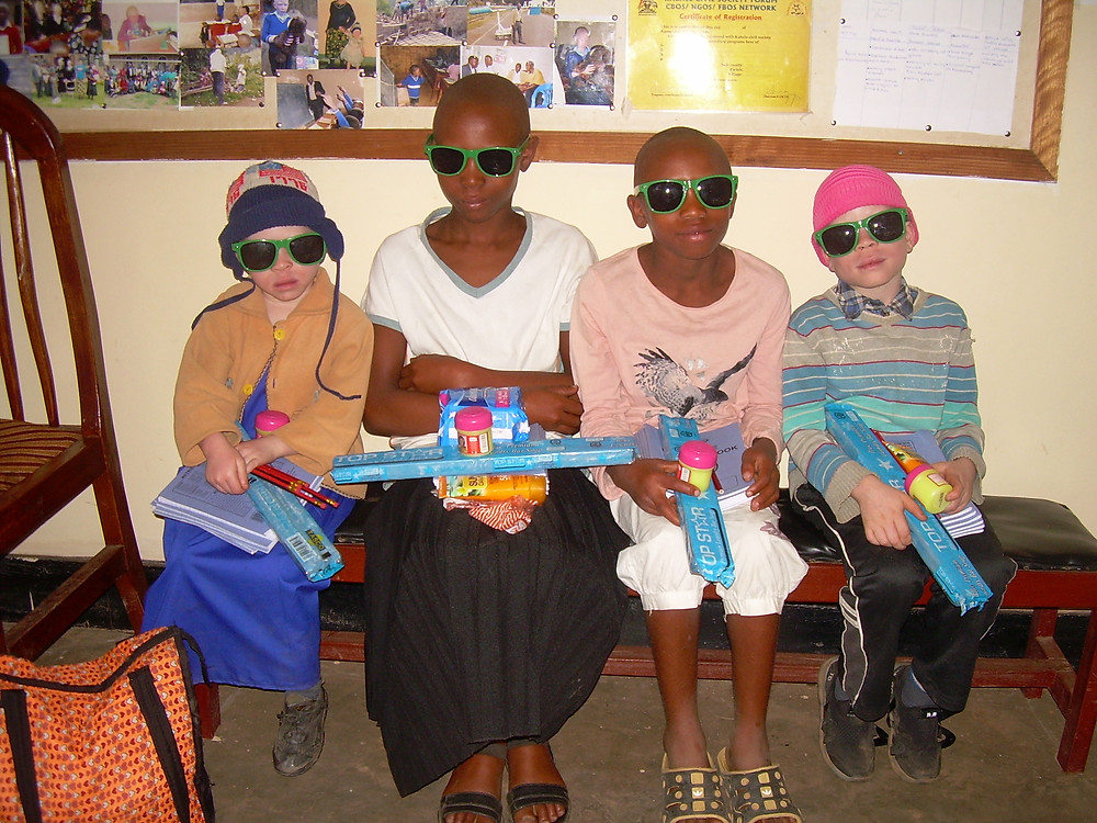 Children with albinism in Uganda