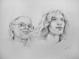 """Mick Jagger and Marianne Faithfull"""