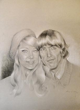 """George Harrison and Pattie Boyd"""