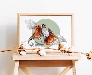 Pheasants Print