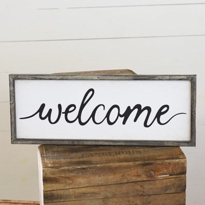 """24"""" Horizontal Welcome Sign"""