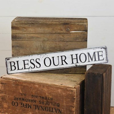 Bless Our Home Tin Sign