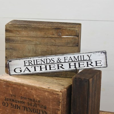 Gather Here Tin Sign
