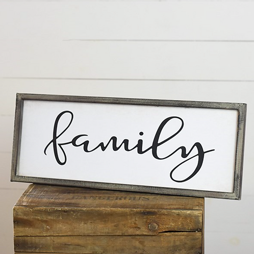 """24"""" Family sign"""