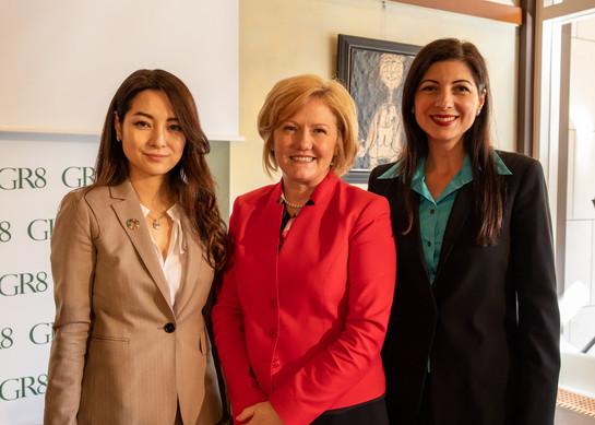 GR8 Co-Founders Narcisa Pheres & Sakiko Yamada with H.E. Mrs. Tatiana Iosiper - Romania Ambassador to Japan.  Picture Credit: David Schneider