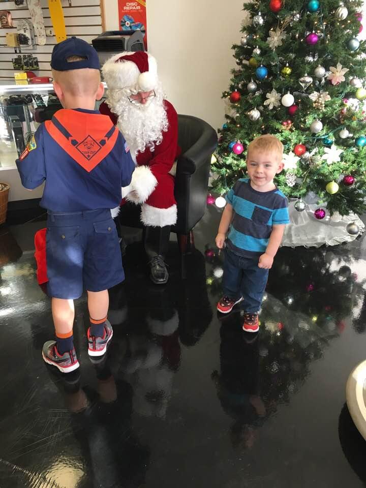 Santa is a boy scout