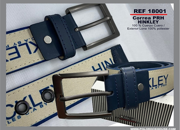 Belt with leather Hinkley