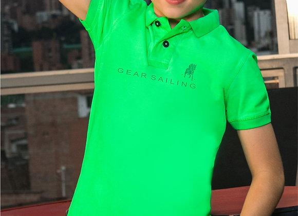 Boy's Flag Mesh Polo Shirt