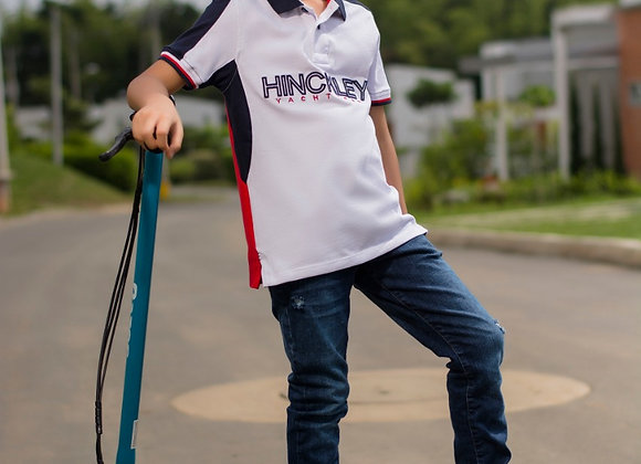 Boy's Flag Mesh Polo Shirt