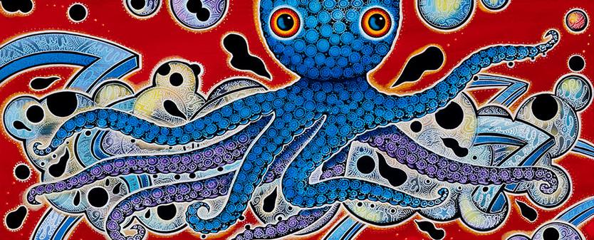 Blue Octopus in LA River