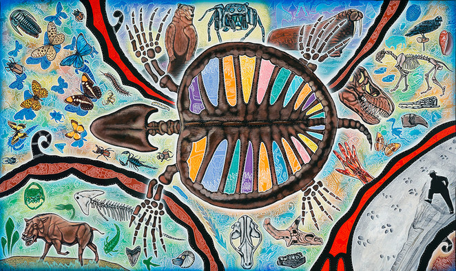 Mural at the Denver Museum of Nature &