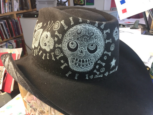 O'Farrell Hats/ painted hat