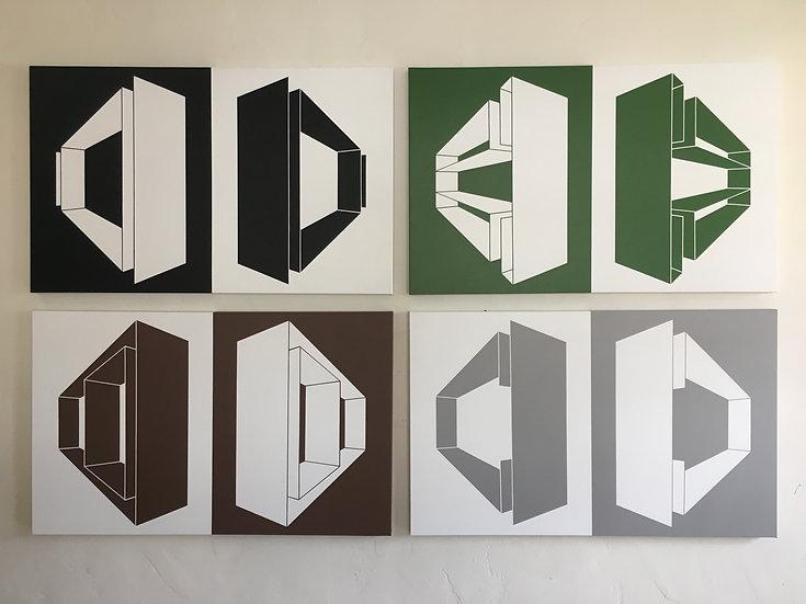 Black/Green/Brown/Grey