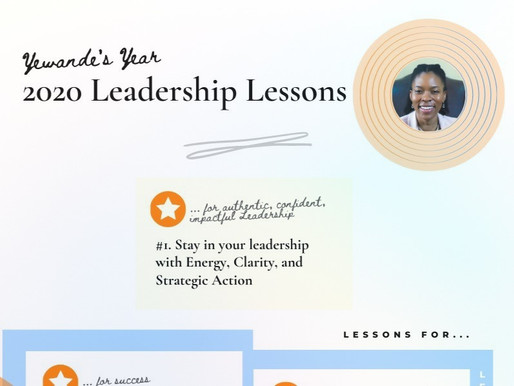 Yewande's Year: 12 Leadership Lessons from 2020