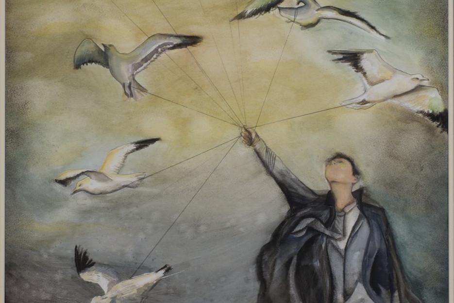Man with Captive Seagulls