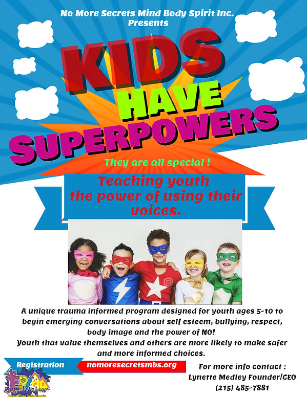 Kids have Superpowers too Multi Flyer.jp